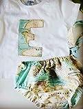 Conjunto Camiseta y Cubrepañal Bebe mapamundi