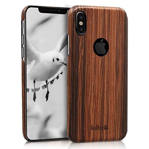 kalibri-Holz-Case-Hlle-fr-Apple-iPhone-X-Handy-Cover-Schutzhlle-aus-Echt-Holz-und-Kunststoff-Mix-Lindenholz-in-Braun