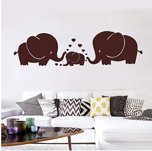 Familia De Elefantes, Padres E Hijos con Corazón, Tatuajes De Pared, Decoración...