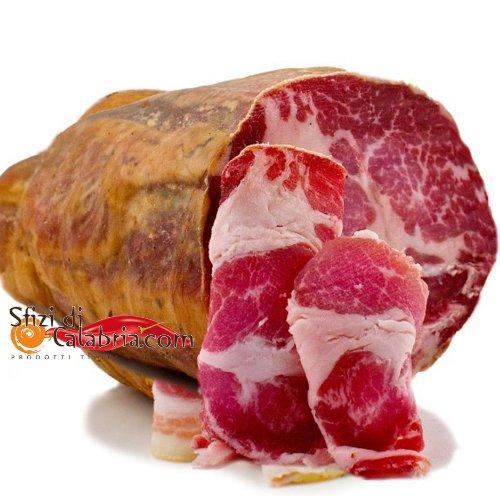 Capocollo coppa salame piccante artigianale stagionato trancio 400 gr prodotti tipici calabresi sfizi di calabria