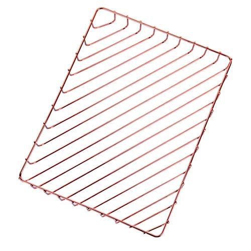 Vaschetta Portacorrispondenza Cesto portaoggetti in metallo monostrato impilabile Porta documenti A4 Porta documenti Portadocumenti, in oro rosa Supporto per documenti
