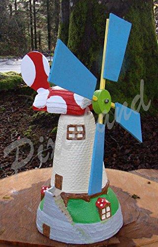 Garten Ornament ~ Große Windmühle–Farbige