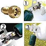 Forfar Portable Gas Burner Fire Stove Adapter Camping Hiking Picnic Cookwares Cooking Cookout Set Kit