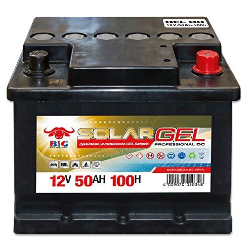 Preisvergleich Produktbild BIG Solar DC GEL 12 V / 50 Ah (100h) Antrieb Beleuchtung Versorgungsbatterie