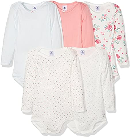 Petit Bateau Baby Girls' Lot 5p Body ml 2591100 Bodysuit, Mehrfarbig (SPECIAL LOT 00 00), 3 Years