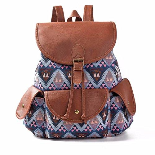 Koly_Le donne del vento nazionale di stampa dello zaino Drawstring Shopping Bag (C)
