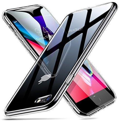 ESR Gehärtetes Glas Hülle für iPhone 8 iPhone 7 TPU Rahmen [Kratzfest] Durchsichtige Glas Rückseite Handyhülle Kabelloses Laden Unterstützen Schutzhülle kompatibel mit Apple iPhone 8/7 - Transparent