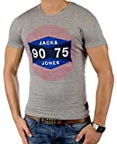 JACK & JONES Herren T-Shirt Summer-Sale Verschiedene Modelle (L, Grau (Light Grey Melange Fit:Tall&Slim jjcoSTAY))