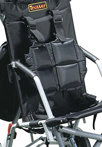 Wenzelite Full Torso Vest for Wenzelite Trotter Mobility Rehab Stroller, Black