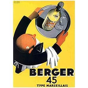 Affiche vintage de Roland ANSIEAU Berger 45 (50 x 70cm)