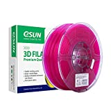 eSUN Transparent PLA Filamento de Impresora 3D, Filamento PLA 1.75mm, Precisión Dimensional +/- 0.05mm, 2.2 LBS (1KG) de Carrete para la Impresora 3D y Pluma 3D, Púrpura Transparente