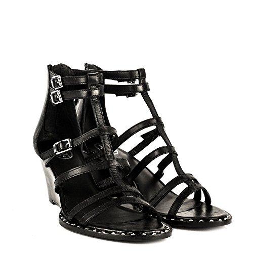 Ash Chaussures Nuba Bis Sandales Noir Femme Noir