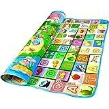 HBMALLINDIA Baby Waterproof Double Sided Play Mat Activity Foam Floor Soft Kid Educational Toy Crawl Blanket/Ocean Zoo Carpet (Multicolour, 6 x 4 Feet)