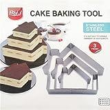 3 Stk. Backform Edelstahl antihaftbeschichtung Dessert- Speiseringset Kuchenform backform für