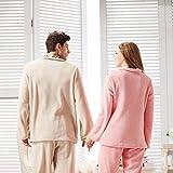 Invierno par pijamas de los hombres y de mujeres marca ropa de manga larga traje de moda , men yellow , xl