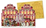 Nostalgische Weihnachtshäuser: Windlicht-Mini-Adventskalender-Sortiment (4 x 6 Ex.) (Grusskarten)