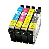 LS 4 Patronen für Epson T0711-T0714 1xbk 1xcmy BK, 14 ml,Color je 14 ml,kompatibel