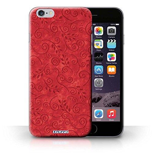 Kobalt® Imprimé Etui / Coque pour iPhone 6+/Plus 5.5 / Turquoise conception / Série Motif Feuille Remous Rouge
