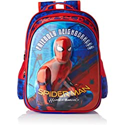 Spiderman Polyester Blue School Bag (Age group :3-5 yrs)