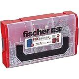 Fischer 548862 Duoline - Fixtainer, color gris y rojo
