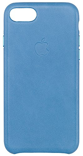 Custodia apple in pelle per iphone 7 - azzurro mare