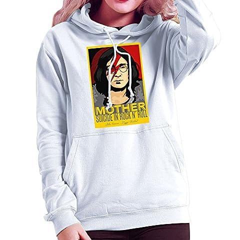 John Lennon Ziggy Stardust Mother Suicide In Rock And Roll Women's Hooded Sweatshirt