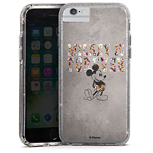 Apple iPhone X Bumper Hülle Bumper Case Glitzer Hülle Disney Mickey Mouse Geschenke Merchandise Bumper Case Glitzer rose gold