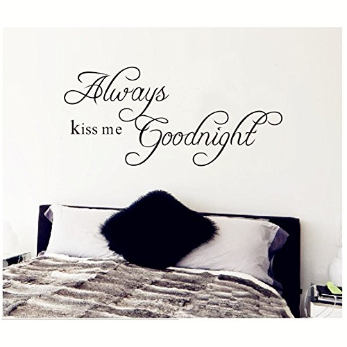 himanjie-always-kiss-me-goodnight-quote-black-words-room-art-mural-wall-sticker-decal