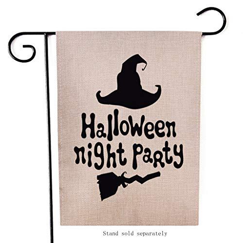 Mitlfuny Halloween coustems Kürbis Hexe Cosplay Gast Ghost Schicke Party Halloween deko,Saisonale Garten Fahnen Doppelseitige Outdoor-Feiertage Dekorative Rasen Yard Flags (Ghost Maid Kostüm)