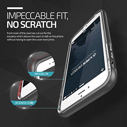 VRS Design® Apple iPhone 6 Plus/6s Plus Crystal Hülle mit [ Kameraschutz ] 2 teilige PC / TPU Silikon Schutzhülle Shine Gold | Transparent Ultra Slim Cover | Schale dünn | Handy Zubehör Back-Case Bump Steel Silver