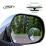 VRT Blind Spot Mirror, Rearview Convex Adjustable Side Mirrors, Frameless Sway Rotate Wide