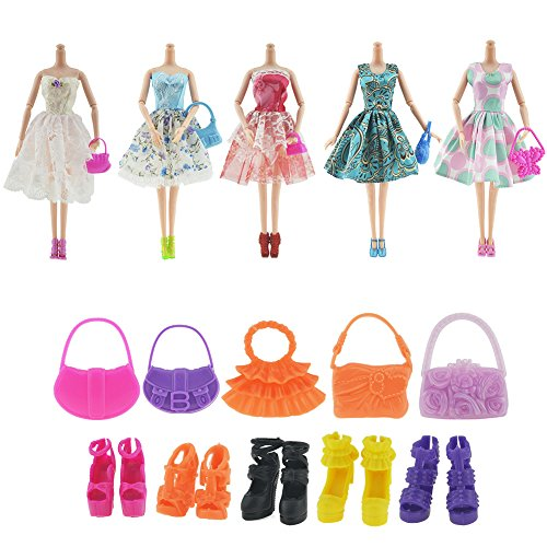 Newsbenessere.com 51GHiF81MtL ASIV Moda Rosa Plastica Staccabile Biciclette con Cestino Regolabile Casco e Girevole Ruote per Bambole Barbie