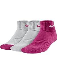 Nike 3P YTH CTN Cush QTR W/ Moist M - Calcetines para niños, color negro / azul, talla M