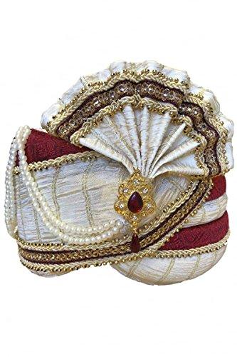 d Kastanienbrauner Indischer Turban / Pagri Indian Bollywood Fancy Dress 22