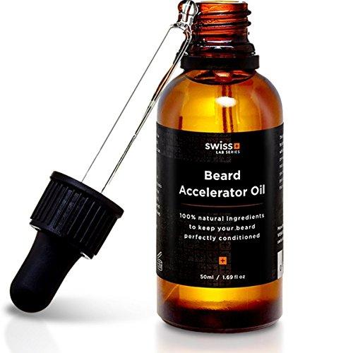 Ein Kräftiger, Voller Bart? Testen Sie das Bartwuchsmittel Von Swiss Lab Series - Fördert Und Beschleunigt Ihren Bartwuchs - Bartöl...