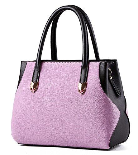PU Pietra Del Reticolo Di Personalità Borsa Women 's Purple
