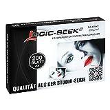 Fotopapier Glossy A4 250g/qm 200 Blatt hochglänzend wischfest Logic Seek Premium LS-A4200G250