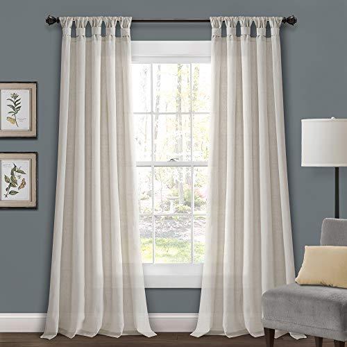 Lush Decor Jute Vorhang mit Schlaufen, 213