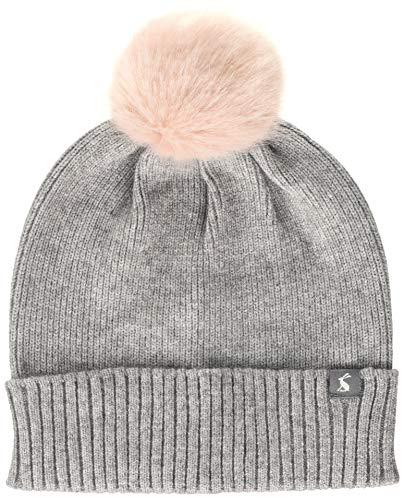 Joules Damen Snowday Hat Mütze, Schal & Handschuh-Set, Grau (Grey Marl Grymarl), Size (Herstellergröße: One)