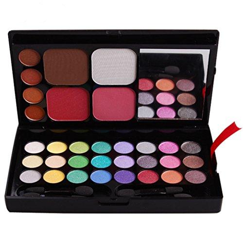 Pure Vie® 32 Couleurs Fard à Paupières Correcteur et Fard à Joues Rouge à Lèvre Palette de Maquillage Cosmétique Set - Convient Parfaitement pour une Utilisation Professionnelle ou à la Maisons