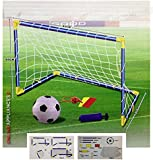 Kids Children Football Goal Post Net Ball With Pump Whistle Toy Indoor / Outdoor Soccer (Single)