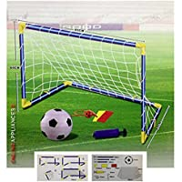 Kids Children Football Goal Post Net Ball With Pump Whistle Toy Indoor/Outdoor Soccer (Single)