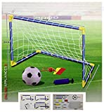Kids Children Football Goal Post Net Ball With Pump Whistle Toy Indoor / Outdoor Soccer (Single) (Misc.)