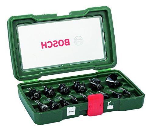Bosch 2607019469 Set Misto, 15 Frese HM, Gambo 8 mm
