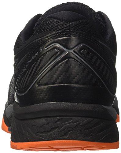 Asics Gel-Fujitrabuco 6, Scarpe da Trail Running Uomo Grigio (Carbon / Black / Hot Orange)