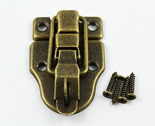 CHENGYIDA 10Antik Messing Deko Überfalle Jewelry Box Haspe Latch Lock 40x 56mm mit Schrauben