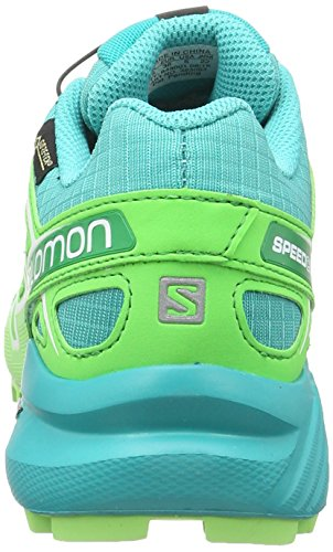 Salomon Speedcross 4, Chaussures de Trail Femme Bleu (Teal Blue F/Peppermint/Fresh Green)