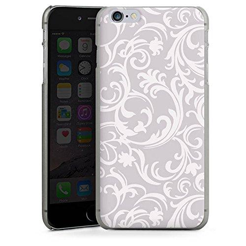 Apple iPhone X Silikon Hülle Case Schutzhülle Blumen Grau Abstrakt Hard Case anthrazit-klar