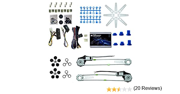 Vetri elettrici universali Retrofitting per 2 porte con set di accessori 12V Alzacristalli Elettrico Universale /…