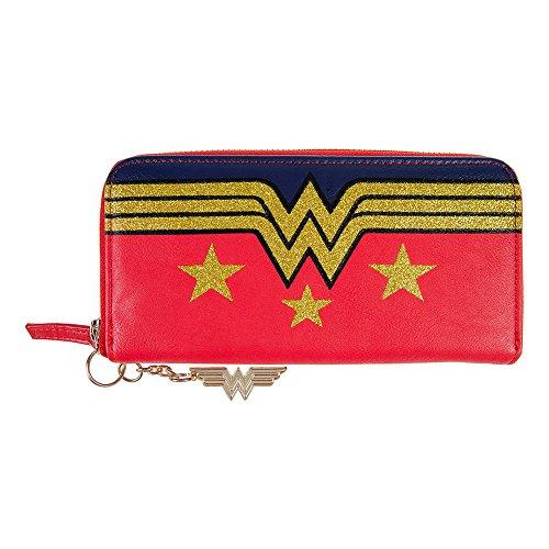 Portafogli Da Donna Wonder Woman Star DC Comics (Rosso/Blu/Oro) - Taglia Unica